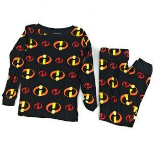 Pixar Boy's Incredibles 2pc Pajama Set Size 4